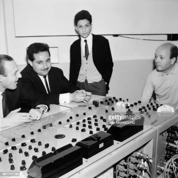 French Singer Michel Berger in Boulogne recording studio on May 28 1963
