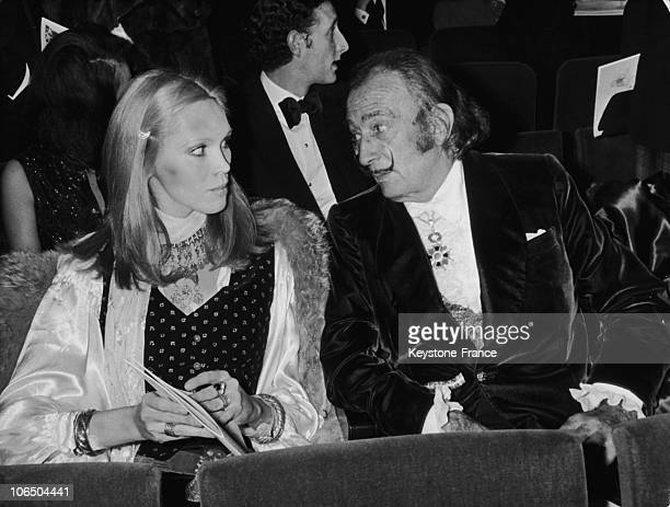 FrancePainter Salvador Dali And Amanda Lear1970'S