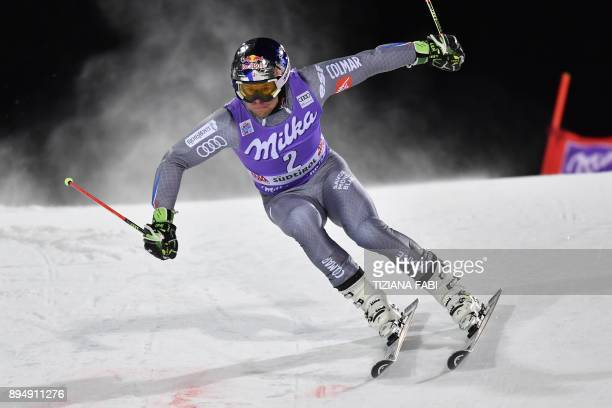 France's Alexis Pinturault competes in the FIS Alpine World Cup Men's Parallel Giant Slalom on December 18 2017 in Alta Badia Italian Alps / AFP...