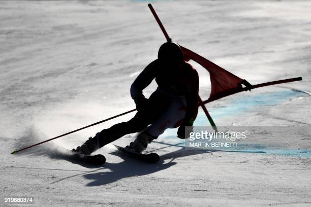 France's Alexis Pinturault competes in the Men's Giant Slalom at the Jeongseon Alpine Center during the Pyeongchang 2018 Winter Olympic Games in...