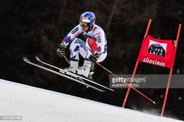 France's Alexis Pinturault competes in the the FIS Alpine World Cup Men Giant Slalom on December 16, 2018 in Alta Badia, Italian Alps.