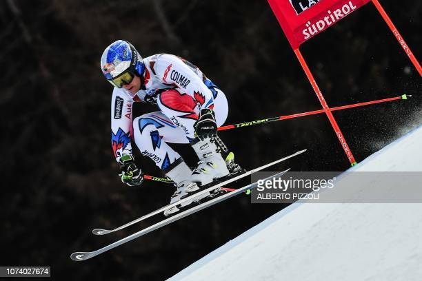 France's Alexis Pinturault competes in the the FIS Alpine World Cup Men Giant Slalom on December 16 2018 in Alta Badia Italian Alps
