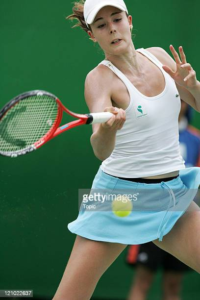 France's Alize Cornet during her second round loss to Slovakia's Daniela Hantuchova at the 2007 Australian Open at Melbourne Park in Melbourne...