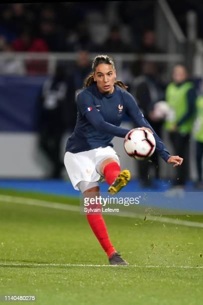 France's Amel Majri during women friendly soccer match France vs Japan at Stade de L'AbbeDeschamps on April 04 2019 in Auxerre France