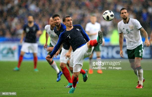 France's Antoinne Griezmann in action during the international friendly match at Stade de France Paris