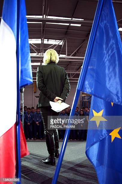 France's Apprenticeships and Training Minister Nadine Morano gets ready to deliver a speech at the Airbus the European aircraft manufacturer...