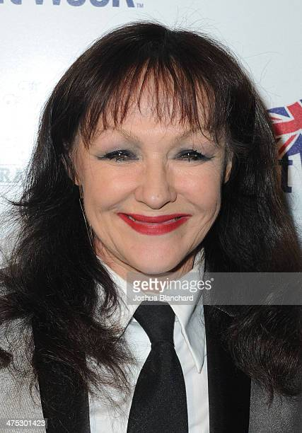 Frances Barber arrives at BritWeek Oscar Party Celebrating Past Present And Future Oscar Winners at Hooray Henry's on February 26 2014 in West...