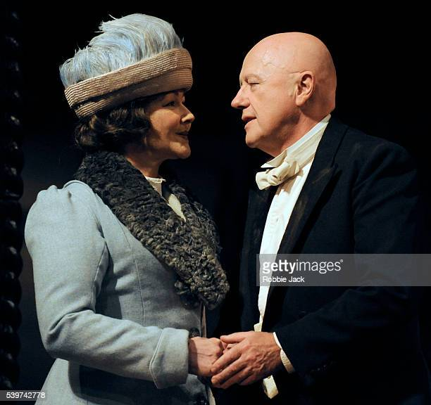 Frances Barber as Sonya and Niall Buggy as Andrey in Brian Friel's play Afterplay directed by Garry Hynes at the King's Theatre as part of the...