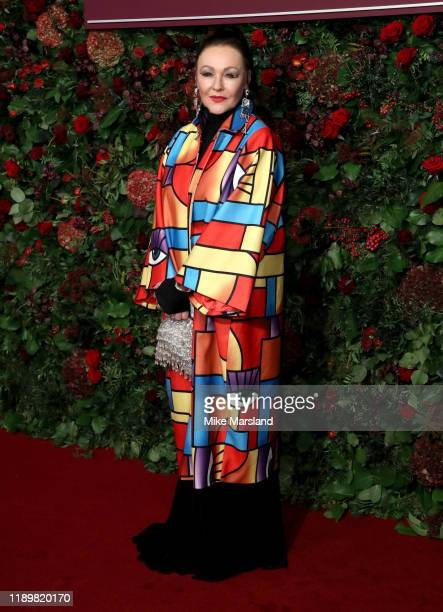 Frances Barber attends the 65th Evening Standard Theatre Awards at the London Coliseum on November 24 2019 in London England