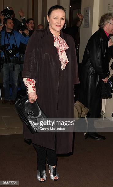 Frances Barber attends the London Evening Standard Theatre Awards at The Royal Opera House on November 23 2009 in London England