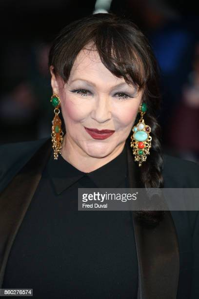 Frances Barber attends the Mayfair Gala European Premiere of Film Stars Don't Die in Liverpool during the 61st BFI London Film Festival on October 11...