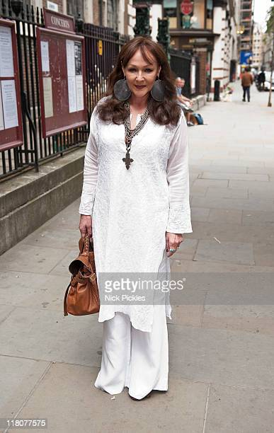 Frances Barber attends the memorial service for British playwright Pam Gems at Saint James Church on July 3 2011 in London England