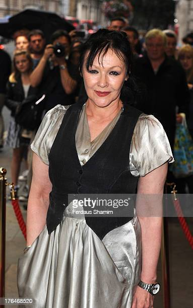 Frances Barber attends the press night of 'The Pride' musical at Trafalgar Studios on August 13 2013 in London England