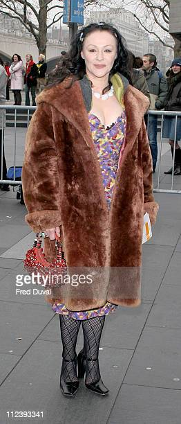 Frances Barber during 2004 Evening Standard Theatre Awards at National Theatre in London Great Britain