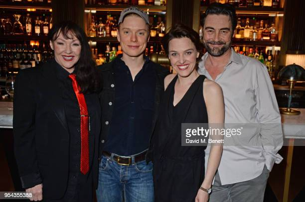 Frances Barber Freddie Fox Sally Bretton and Nathaniel Parker attend the press night after party for 'An Ideal Husband' at the Smith Wollensky on May...