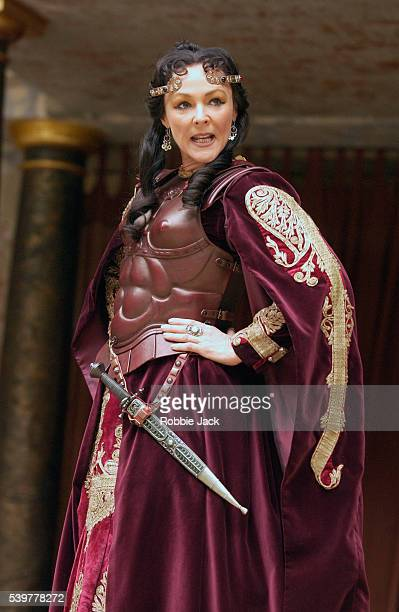 Frances Barber in the production Antony and Cleopatra at the Globe Theater London