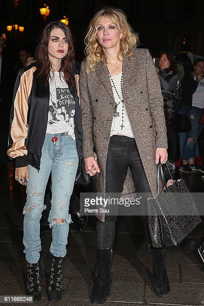 Frances Bean Cobain and Courtney Love arrive at Buro 24/7 Fashion Forward Initiative as part of Paris Fashion Week Womenswear Spring/Summer 2017 at...