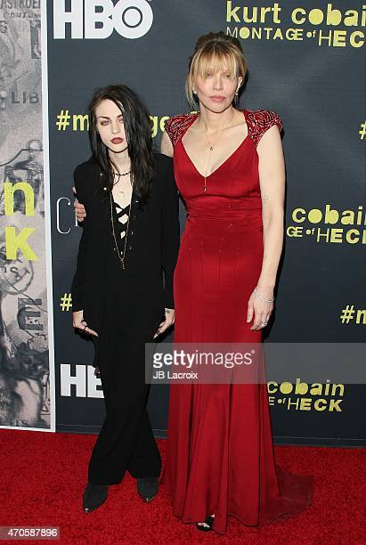 Frances Bean Cobain and Courtney Love attend the Los Angeles premiere of HBO Documentary Films 'Kurt Cobain Montage Of Heck' on April 21 2015 in Los...