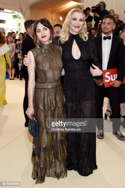 Frances Bean Cobain and Courtney Love attend the Rei Kawakubo/Comme des Garcons Art Of The InBetween Costume Institute Gala at Metropolitan Museum of...