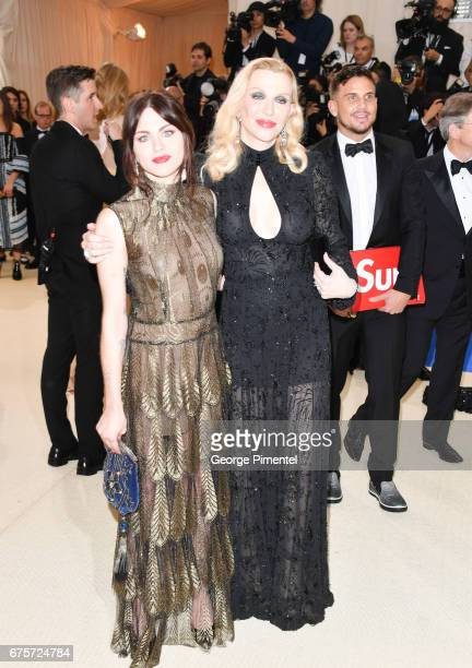 Frances Bean Cobain and Courtney Love attend the 'Rei Kawakubo/Comme des Garcons Art Of The InBetween' Costume Institute Gala at Metropolitan Museum...