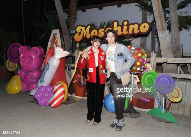 Frances Bean Cobain attend the Moschino Candy Crush Desert Party hosted by Jeremy Scott on April 15 2017 in Coachella California