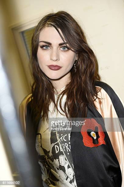 Frances Bean Cobain attends the Enfants Riches Deprimes show as part of Paris Fashion Week Womenswear Spring/Summer 2017 on September 30 2016 in...