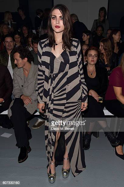 Frances Bean Cobain attends the Gareth Pugh runway show during London Fashion Week Spring/Summer collections 2017 on September 17 2016 in London...