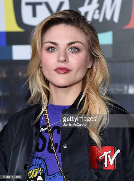 Frances Bean Cobain attends the Moschino x HM fashion show at Pier 36 on October 24 2018 in New York City