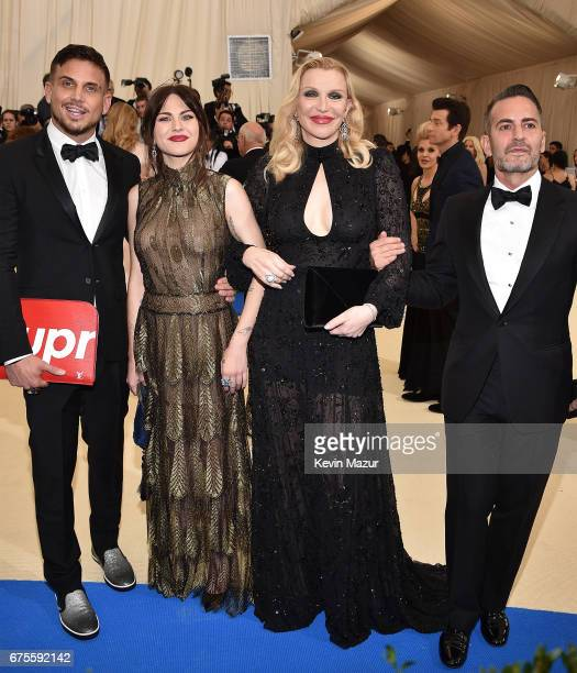 Frances Bean Cobain Courtney Love and Marc Jacobs attend the Rei Kawakubo/Comme des Garcons Art Of The InBetween Costume Institute Gala at...