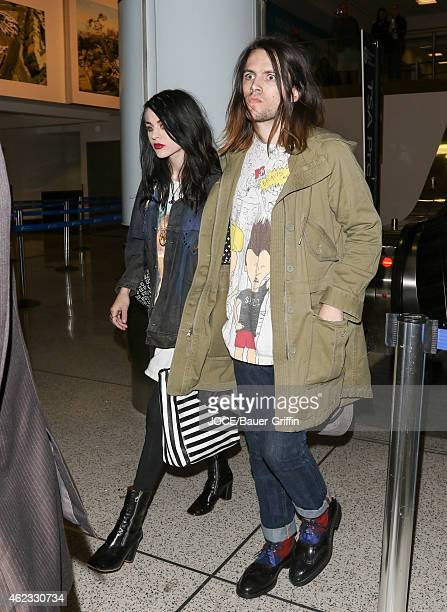 Frances Bean Cobain is seen at LAX on January 26 2015 in Los Angeles California