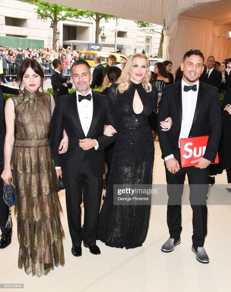 Frances Bean Cobain, Marc Jacobs, Courtney Love and Char Defrancesco attend the 'Rei Kawakubo/Comme des Garcons: Art Of The In-Between' Costume Institute Gala at Metropolitan Museum of Art on May 1, 2017 in New York City.
