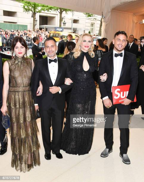 Frances Bean Cobain Marc Jacobs Courtney Love and Char Defrancesco attend the 'Rei Kawakubo/Comme des Garcons Art Of The InBetween' Costume Institute...