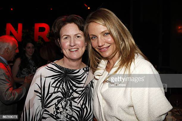 Frances Beinecke and actress Cameron Diaz attend the Natural Resources Defense Council's 20th Anniversary Celebration at the Beverly Wilshire Hotel...