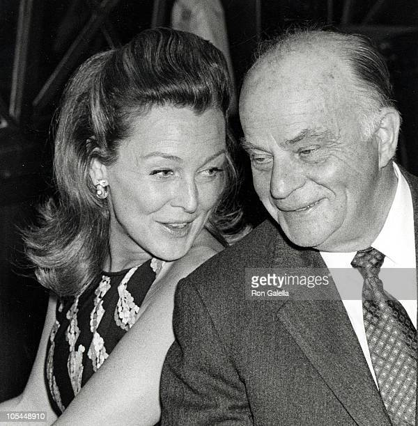 Frances Bergen and husband Edgar Bergen during Hollywood Press Club Golden Days of Radio Event at Marquis Restaurant in West Hollywood California...