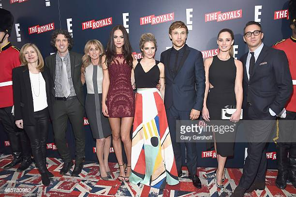 Frances Berwick President Lifestyle Networks NBCU Cable Entertainment Mark Schwahn Creator Producer and Writer of The Royals Bonnie Hammer Chairman...