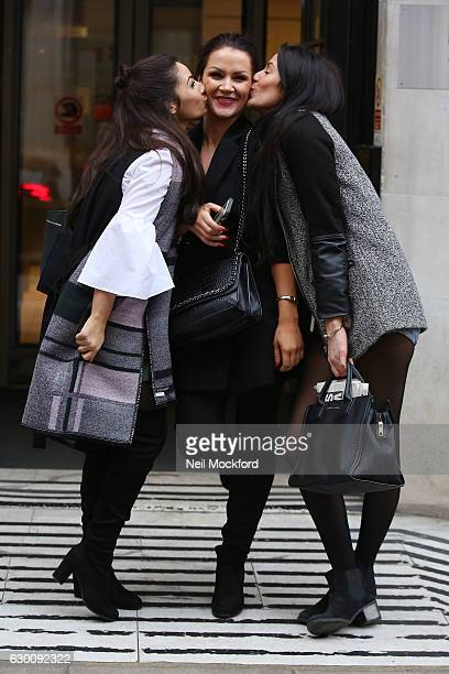 Frances Bishop Jessica Cunningham and Grainne McCoy from The Apprentice seen at BBC Radio 2 on December 16 2016 in London England