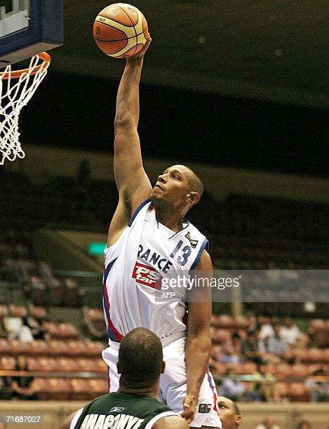 France's Boris Diaw-Riffiod goes up for a dunk against Nigeria during their Group A preliminary round match on the third day of the World Basketball...