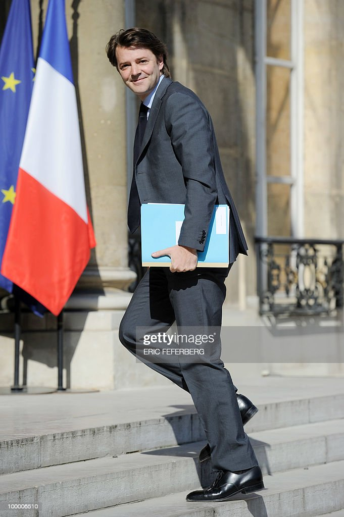 France's Budget minister Francois Baroin arrives at the Elysee Palace on May 20, 2010 in Paris to attend a second meeting on public deficit with French President Nicolas Sarkozy. France reopened its 2010 budget to add in the 111 billion euros it has promised to contribute to Europe's new 750-billion-euro emergency stability fund, Finance Minister Christine Lagarde said yesterday.