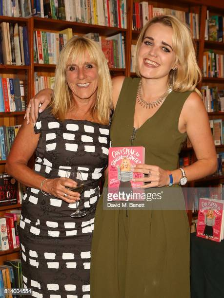 Frances Cain and Emily Clarkson attend the launch of Emily Clarkson's first book 'Can I Speak to Someone in Charge' at Daunt Books on July 13 2017 in...