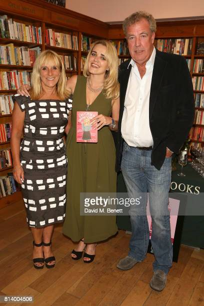 Frances Cain Emily Clerkson and Jeremy Clarkson attend the launch of Emily Clarkson's first book 'Can I Speak to Someone in Charge' at Daunt Books on...