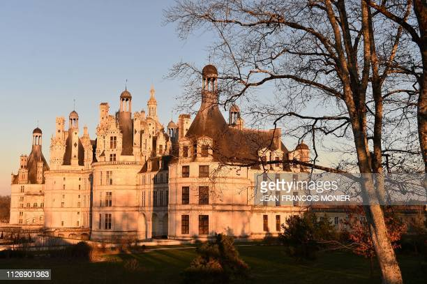 France's Chateau de Chambord in the Loire valley is pictured on February 23 2019