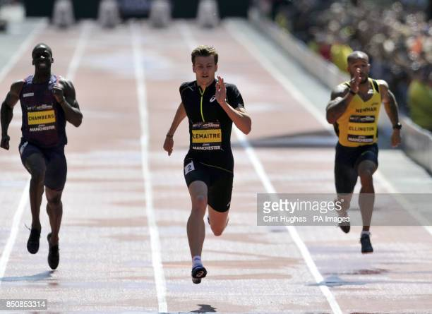 France's Christophe lemaitre wins the men's 150m during the BT Great City Games in Manchester