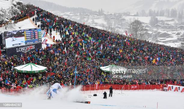 Frances Clement Noel competes in the men's Slalom event of the FIS Alpine Ski World Cup in Kitzbuehel Austria on January 26 2019