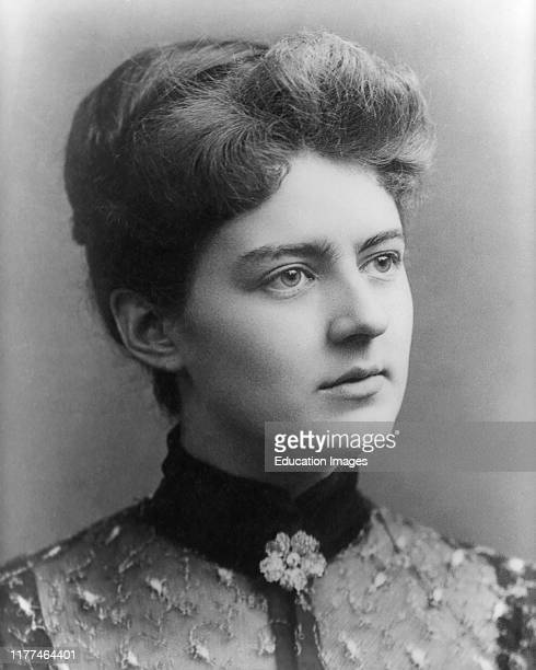 Frances Cleveland 18641947 First Lady of the United States 188689 and 189397 as Wife of US President Grover Cleveland photograph by George Prince 1886