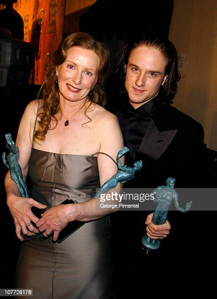 Frances Conroy and Ben Foster of 'Six Feet Under' winner of Outstanding Performance by an Ensemble in a Drama Series