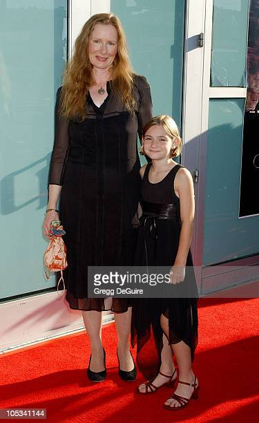 Frances Conroy and greatniece Freja during 'Catwoman' World Premiere Arrivals at Cinerama Dome in Hollywood California United States