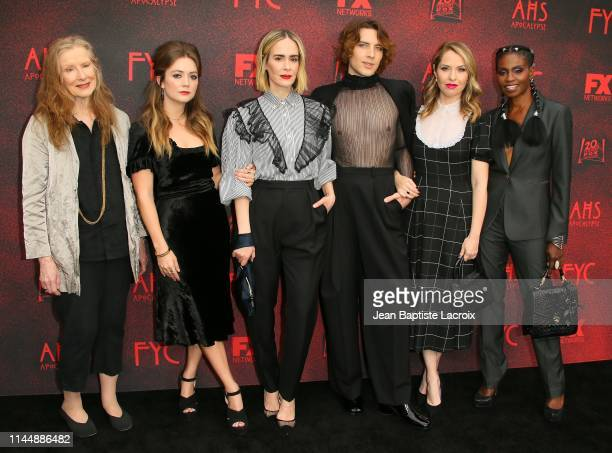 "Frances Conroy, Billie Lourd, Sarah Paulson, Cody Fern, Leslie Grossman and Adina Porter attend the FYC red carpet for FX's ""American Horror Story:..."