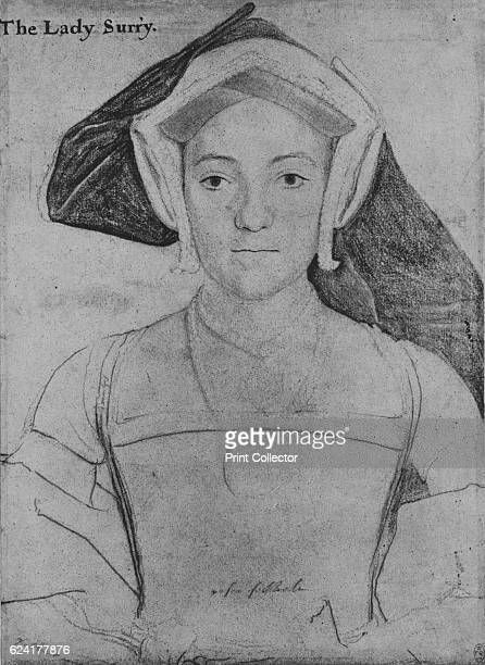 Frances, Countess of Surrey', c1532-1533 . Frances Howard, , Countess of Surrey was daughter of John de Vere, 15th Earl of Oxford, and Elizabeth...