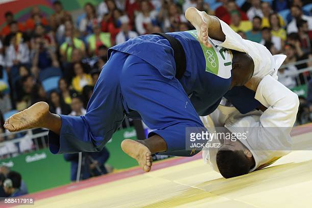 France's Cyrille Maret competes with Mali's Ayouba Traore during their men's 100kg judo contest match of the Rio 2016 Olympic Games in Rio de Janeiro...