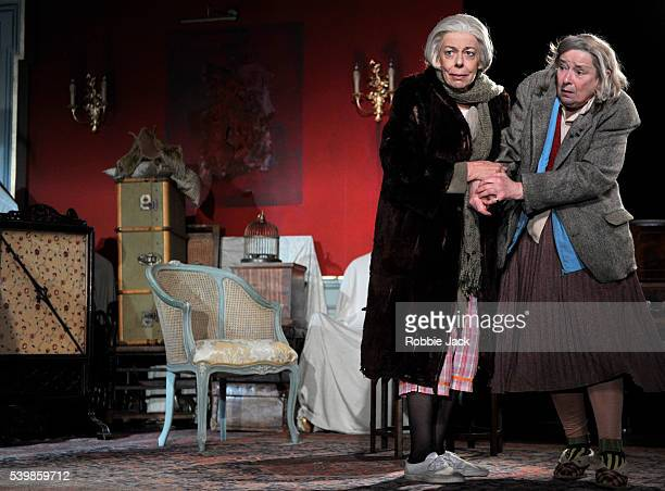 Frances de la Tour as Dorothy Stacpoole and Linda Bassett as Iris in Alan Bennett's People directed by Nicholas Hytner at the National Theatre in...